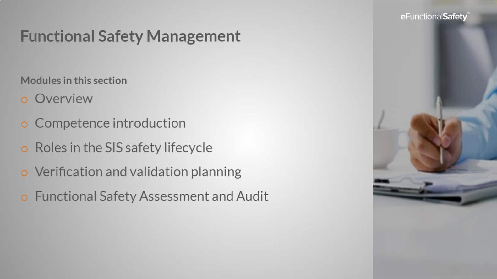 Safety Instrumented Systems FOUNDATION Section 3